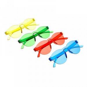 Очки солнцезащитные молодежные, пластик, 3-4 цвета, 14,2х5,3см, 339570B✅