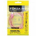 FORZA Кабель для зарядки Micro USB, Конфетти, 1м, 1.5А, цветной с подсветкой