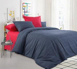 Комплект постельного белья 2-спальный с Евро простыней, поплин (Бушующий вулкан)