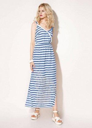 Сарафан Prio 714180 бело-голубой