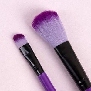 Набор кистей для макияжа, 2 предмета, цвет МИКС