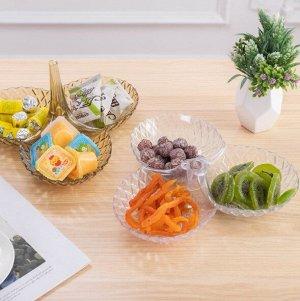 Менажница для орехов, фруктов, закусок 6618 белый