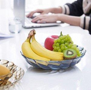 Тарелка для фруктов 2164 голубой