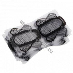 Одноразовые прозрачные формы (широкие, черные), 20шт