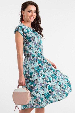 """Платье """"Хилена"""" (изумрудные цветы) П1380-13"""