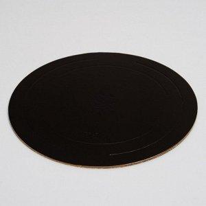 Подложка усиленная 26 см, черно - белая, 3,2 мм