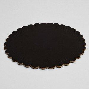 Подложка усиленная, волна,  26 см, черно - белая, 3,2 мм