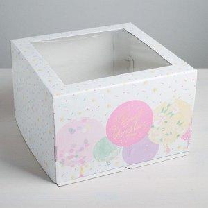 Коробка для торта Best wishes, 30 х 30 х 19 см