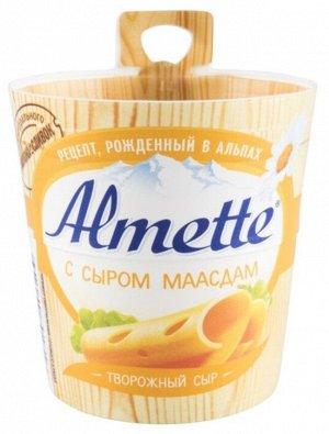 Сыр творожный Хохланд 150г Альметте с сыром маасдам 1х8