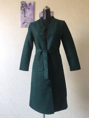 Пальто - кардиган женское демисезонное, цвет ИЗУМРУДНЫЙ