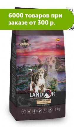 Landor Puppy сухой корм для щенков всех пород Утка/рис 1кг