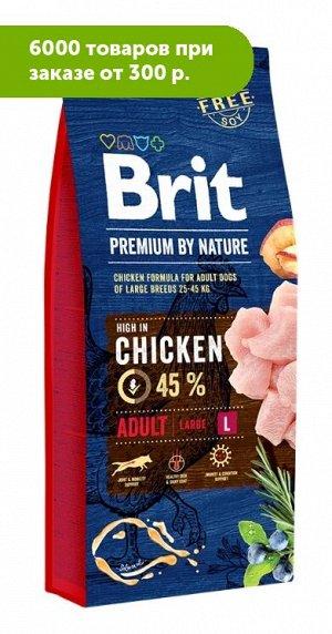 Brit Premium by Nature Adult L сухой корм для взрослых собак крупных пород 15кг