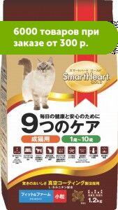 Smart Heart Gold Fit &Firm сухой корм для кошек Здоровье и поддержание выставочной формы 2,4кг