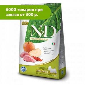 Farmina N&D Grain Free сухой беззерновой корм для собак мелких пород Кабан/Яблоко 800грг