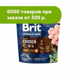 Brit Premium by Nature Adult Мedium сухой для средних пород собак 1кг