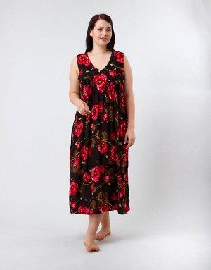 Чёрный сарафан с красными цветами, 317