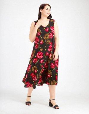 Чёрный сарафан с красными цветами, 312