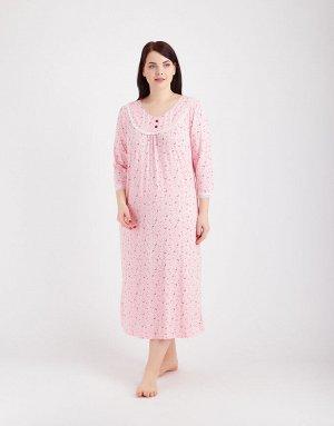 Длинная сорочка розовая
