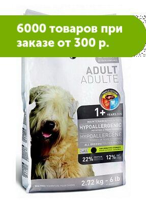 1'st Choice Adult Hypoallergenic сухой гипоаллергенный корм для собак всех пород Утка/картофель 2,72кг