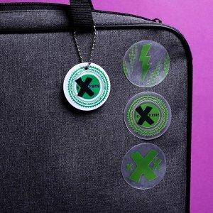 Набор светоотражателей «Экстрим», брелок, наклейки 3 шт, слэп-браслет