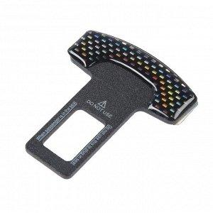 Заглушка ремня безопасности, металлическая, черный