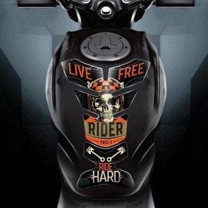Наклейка на мотоцикл Ride hard