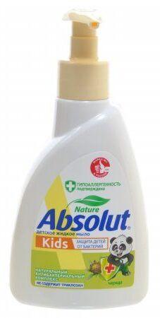 Жидкое мыло Absolut NATURE KIDS череда 250гр диспенс /15/ 5060