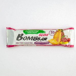 Протеиновый батончик BOMBBAR Slim, ананас-вишня, 35 г