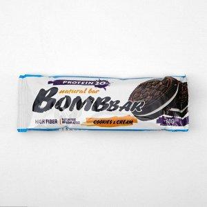 Протеиновый батончик BOMBBAR, печенье с кремом, 60 г