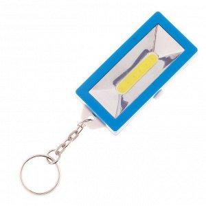 Фонарь ручной с брелоком, 1 LED, 3 батареи, микс 1.5х3х6 см