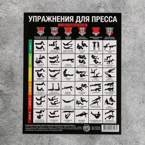 Спортивный календарь-планинг «Упражнения для пресса»,