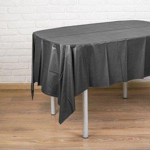 Скатерть «Праздничный стол», 137х183 см, цвет чёрный