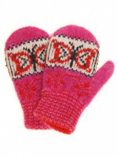 с *Вяжем* мир теплее  — Варежки детские (размер 11) — Вязаные перчатки и варежки