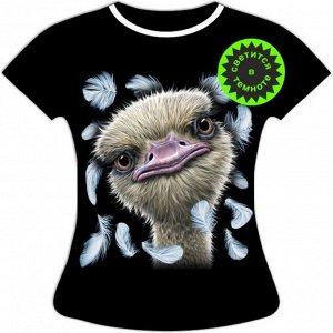 Женская футболка Страус 1088
