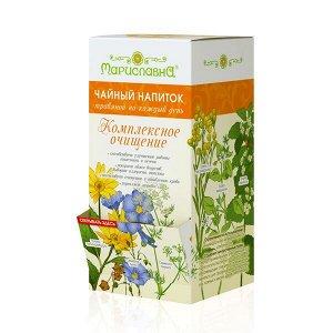 """Чайный напиток (в фильтр-пакетах) """"Комплексное очищение"""" с топинамбуром, семенами льна и листом алычи"""