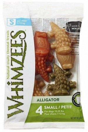 Whimzees лакомство для чистки зубов Крокодильчик для собак S 7 см 4 шт в блистере