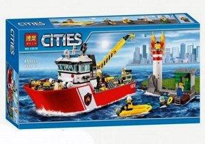 Конструктор BELA Cities 10830 - Пожарный катер