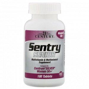 21st Century, Sentry Senior, мультивитаминная и мультиминеральная добавка, для женщин старше 50 лет, 100 таблеток
