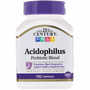 21st Century, Смесь пробиотиков Acidophilus, 100 капсул