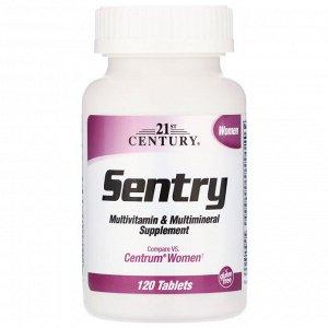 21st Century, Sentry, для женщин, мультивитаминная и мультиминеральная добавка, 120 таблеток