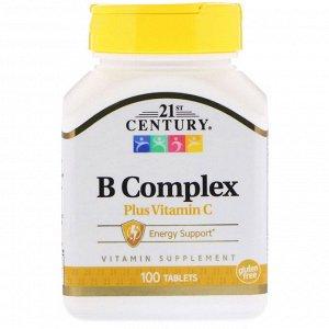 21st Century, Комплекс витаминов группы B с витамином C, 100 таблеток