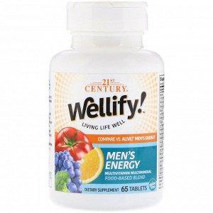 21st Century, Wellify! Men&#x27 - s Energy, Multivitamin Multimineral, 65 Tablets