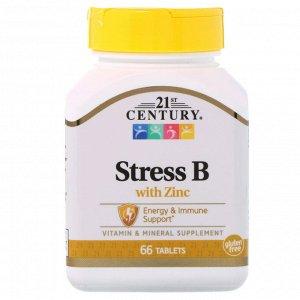 21st Century, Stress B с цинком, 66 таблеток
