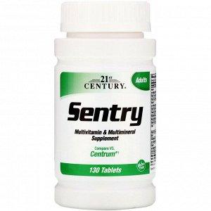 21st Century, Sentry, мультивитаминная и мультиминеральная добавка, 130 таблеток