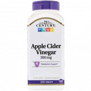 21st Century, яблочный уксус, 300 мг, 250 таблеток