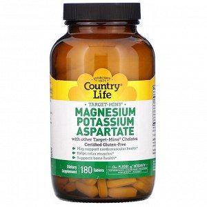 Country Life, Аспартат магния-калия, 180 таблеток