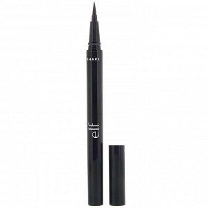 E.L.F., Водостойкая подводка для глаз, угольно-черный, 0,7 мл (0,02 жидк. унции)
