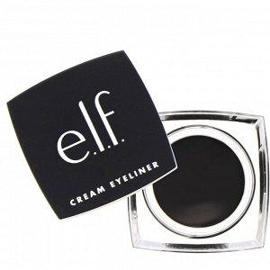 E.L.F., Кремовая подводка для глаз, черная, 4,7 г (0,17 унции)