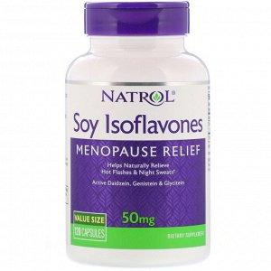 Natrol, Соевые изофлавоны, 50 мг, 120 капсул
