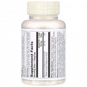Solaray, Магний, 200 мг, 100 растительных капсул